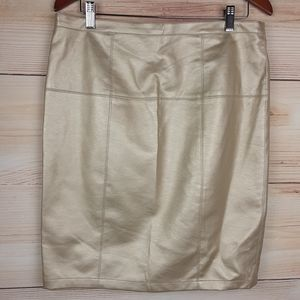 Bagatelle Vegan Faux Leather Metallic gold skirt